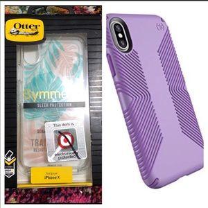 iPhone X cases, OtterBox & Speck NIB